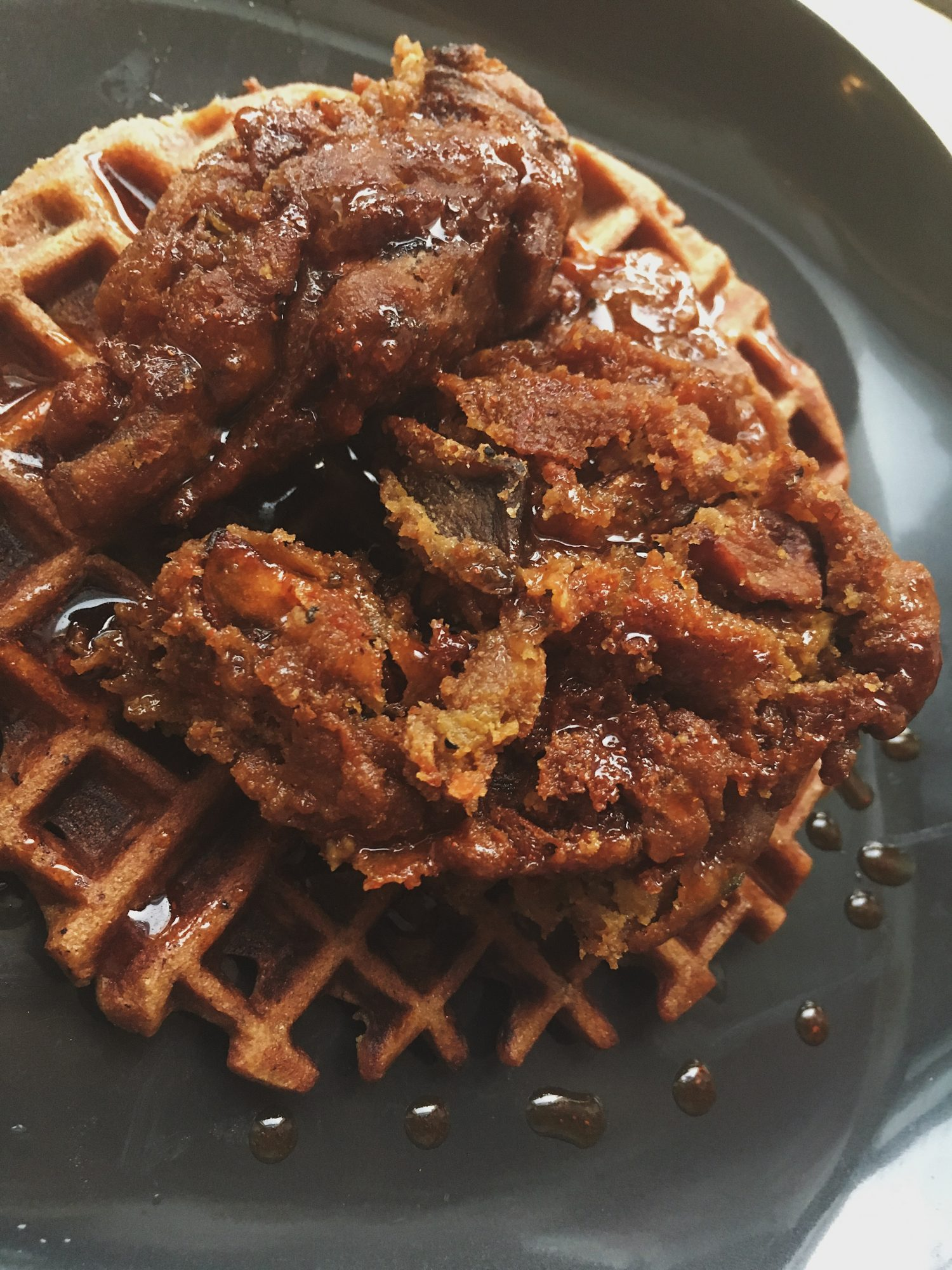 Lobster Mushroom Chicken w/ Waffles